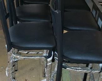 7 black leatherette brand new bar stools