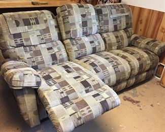 Like new couch with recliners