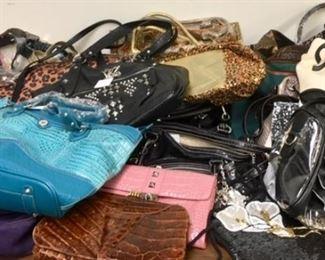 So many high-end purses. So many choices.