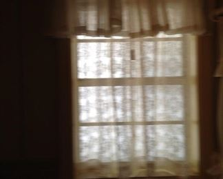 Valance and lace curtain, not a good picture!