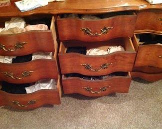 Drawers full of ladies undies, including half slips