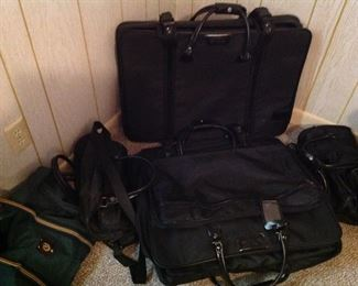 Set of Samson black luggage and other bags