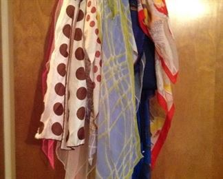 Large collection of vintage scarves