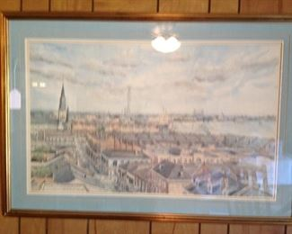 View from Royal Orleans by R.R. Fontenot matted and framed
