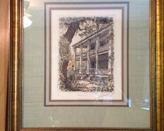 Framed and matted