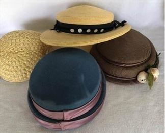Four Vintage Hats   https://ctbids.com/#!/description/share/189434