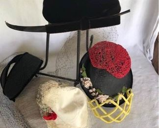 A Final Lot of Vintage Hats https://ctbids.com/#!/description/share/189436