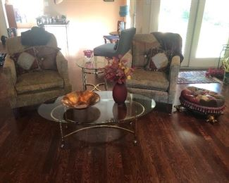 Chairs, Coffee table and end table