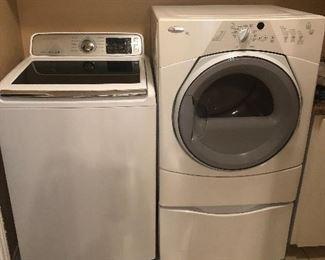 Like New Samsung Washer, Whirlpool Dryer