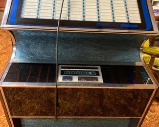 Rock-Ola jukebox--just restored and fully loaded with classic 45's