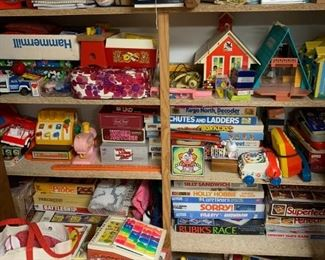 vintage toys and games, fisher price