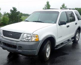 2002 Ford Explorer XLS Multipurpose Vehicle (MPV), V6, 4.0L, RWD, Odometer Reads 132,028 Miles, VIN # 1FMZU62E92ZB60704
