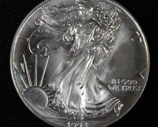 1994 American Eagle One (1) Oz. Fine Silver Dollar