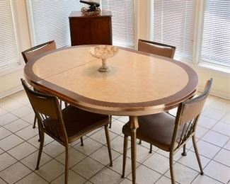 Striking Mid-Century Kitchen Table & Chairs