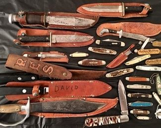 Nice Assortment of Vintage Knives & Pocket Knives