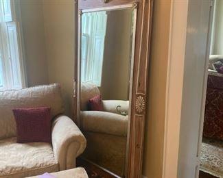Gorgeous beveled floor mirror