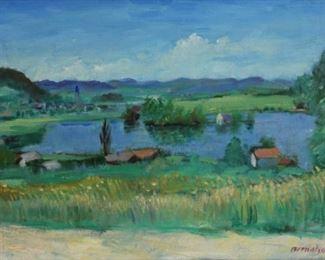 Bernatschke Rudolf Anton Signed Oil On Canvas