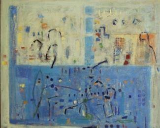 BETTINA WINKELMAN Signed Oil On Canvas Abstract