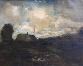 Arthur Panton NASigned Oil On Canvas House In