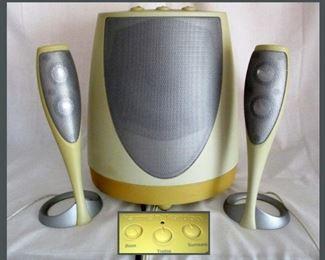Groovy Harmon Kardon Speakers and Subwoofer HK 695-01