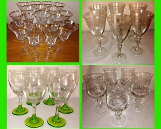Lots of Gorgeous Stemware Available