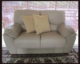 Leather Love Seat, Has a Matching Sofa