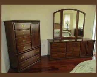 Matching Dresser with Mirror and Matching Chest of Drawers