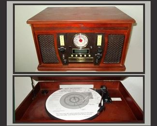 Radio, CD Player and Turn Table