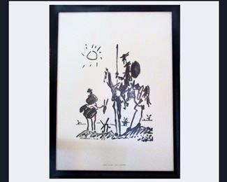 """Picasso Print """"Don Quixote"""""""