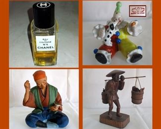 Small Bottle of Chanel No 5 and Small Figurines