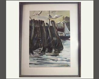Very Nice Framed Watercolor
