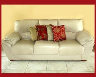Leather Sofa Matches the Leather Love Seat