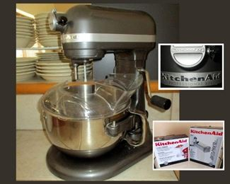 Kitchenaid Mixer Professional 600 with Attachments in Boxes and Original Paperwork