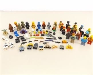 Lot of Misc. Lego Minifigures, parts, Weapons, etc.