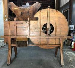RARE Antique Chinese Wooden Rice Thresher