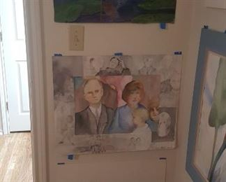 Watercolor art wall #5