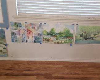 Watercolor art wall # 8
