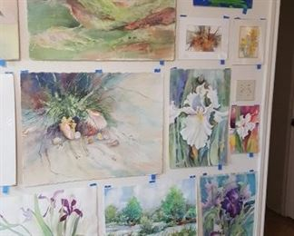 Watercolor art wall #2