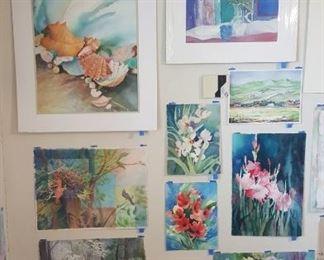 Watercolor art wall #3