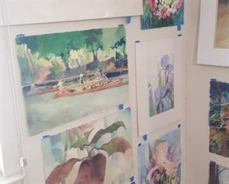 Watercolor art wall #7