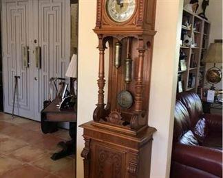 Gustav Becker 1800s Grandfather Clock