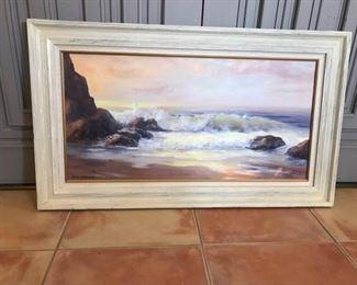 Jack Samuels Water Scene Oil Painting