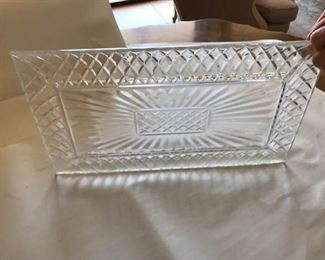 Lead Crystal Tray