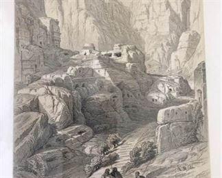 Lithograph Print Ravine Petra