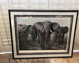 Mark King Elephant Print
