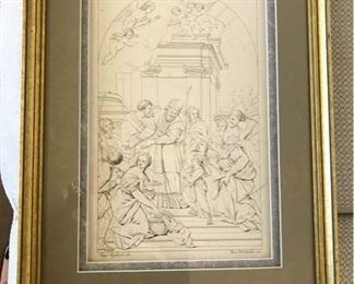 Print Religious Scene by Franc Pagliuolo