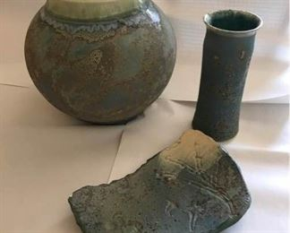 Raku Pottery by Artist Tony Evans
