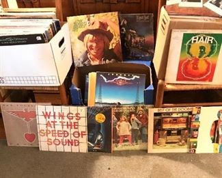 100's of Albums up to 80's all genres! Most vinyl in pristine condition. Covers varying wear from still in cello wrapper to heavy damage.  50% off Friday ($2.50, $1.50 & .50!)