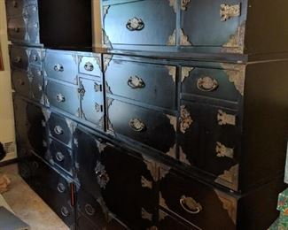 Thomasville Chinese style vintage cabinets.