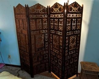 Carved wooden screen, excellent detail